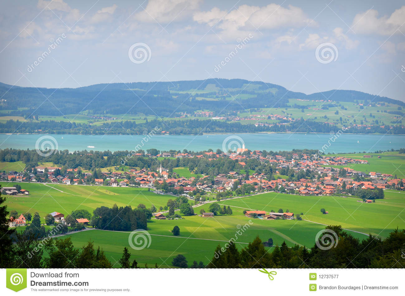 Bavaria Germany Countryside View Stock Image  Image 12737577