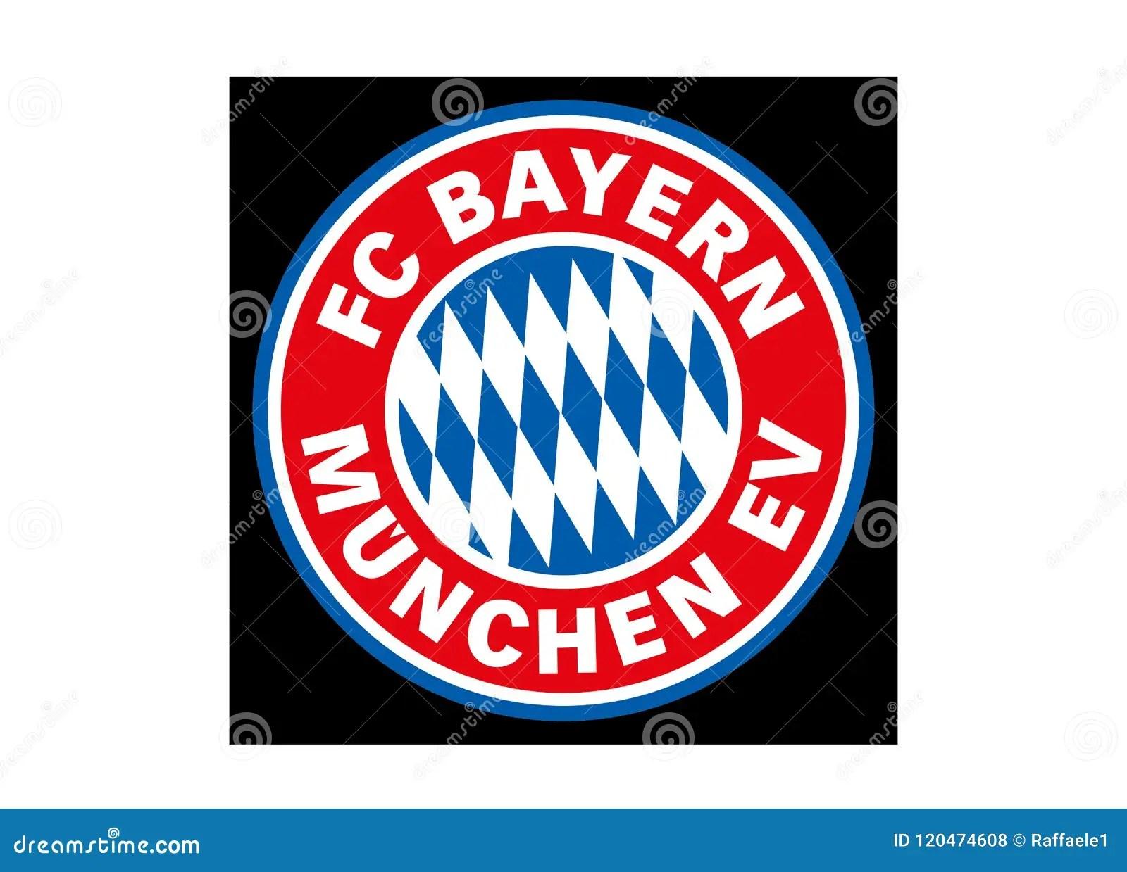 bayern munchen logo editorial