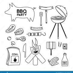 Bbq Kitchen Geeky Gadgets Bbq格栅肉烧烤店党晚餐向量积在家串起烤厨房设备舱内甲板向量例证 插画 Bbq格栅肉烧烤店党晚餐向量积在家串起烤厨房设备