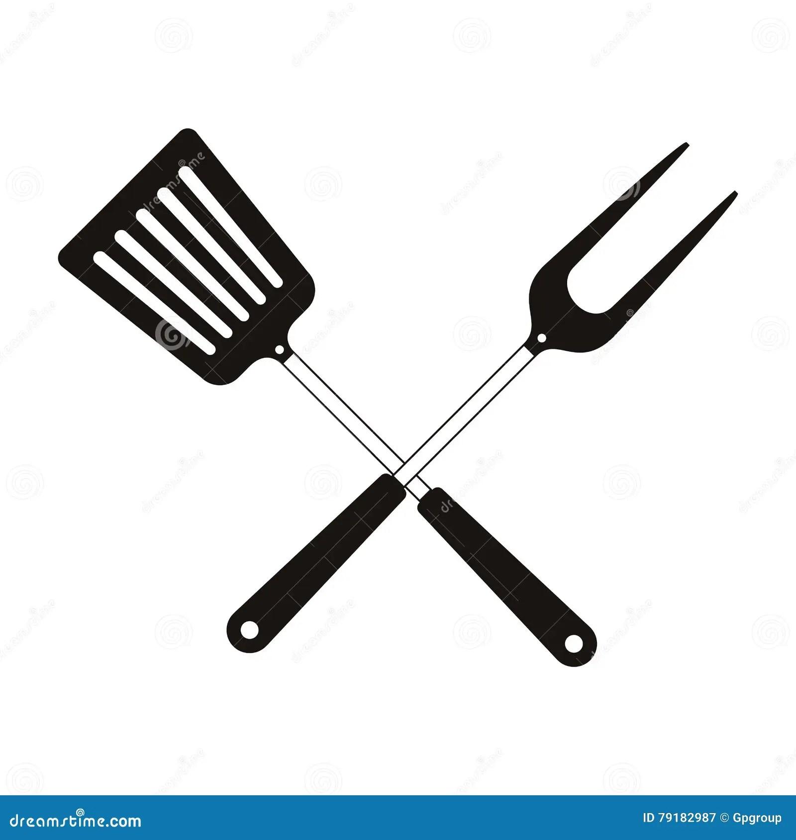 Bbq Cooking Utensils Stock Vector Illustration Of Steak
