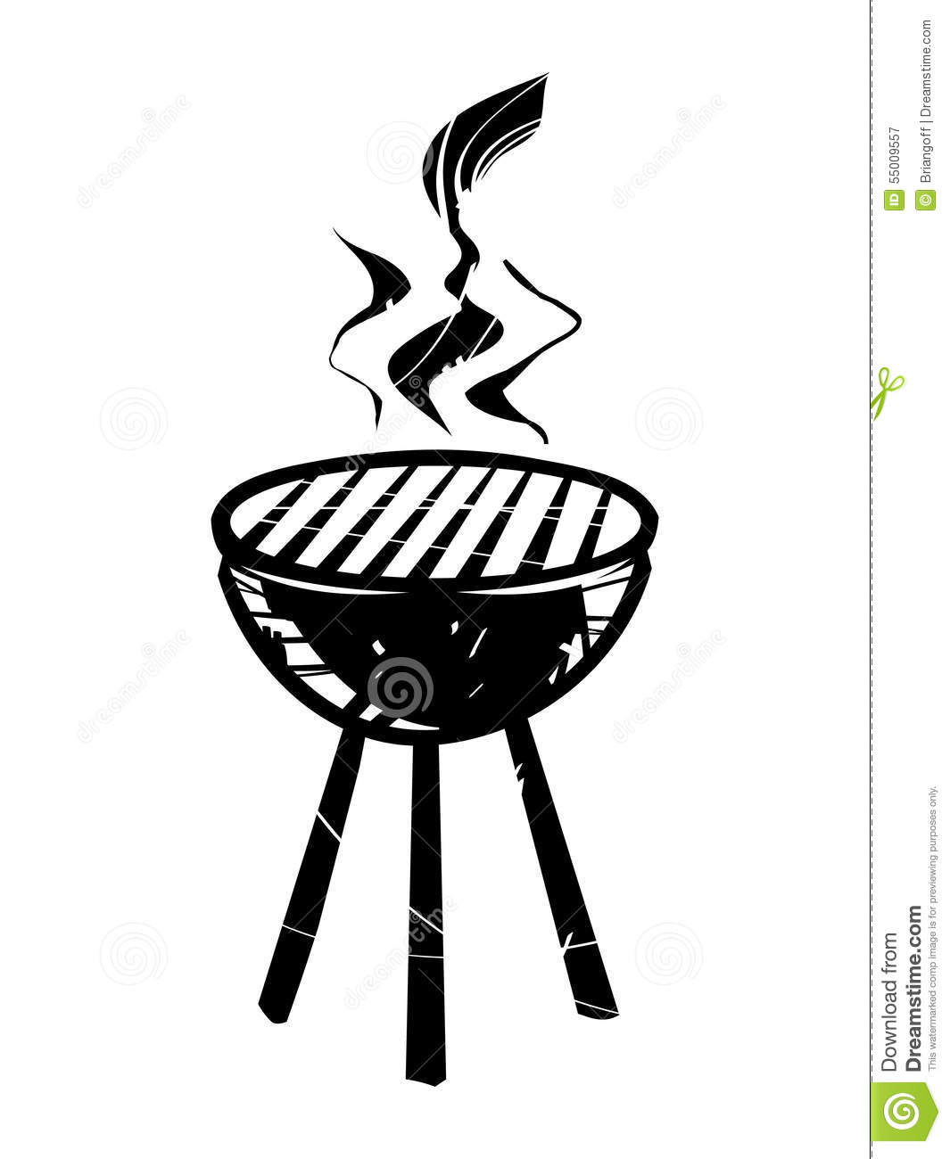 Bbq Vector Icon Stock Vector Illustration Of Beef Poster