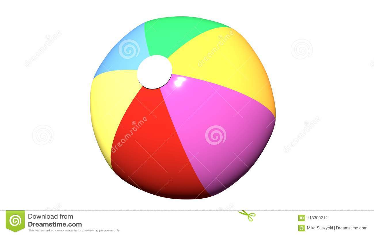 hight resolution of beach ball clip art isolated white background