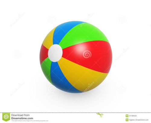 small resolution of colorful summer beach ball isolated on white background
