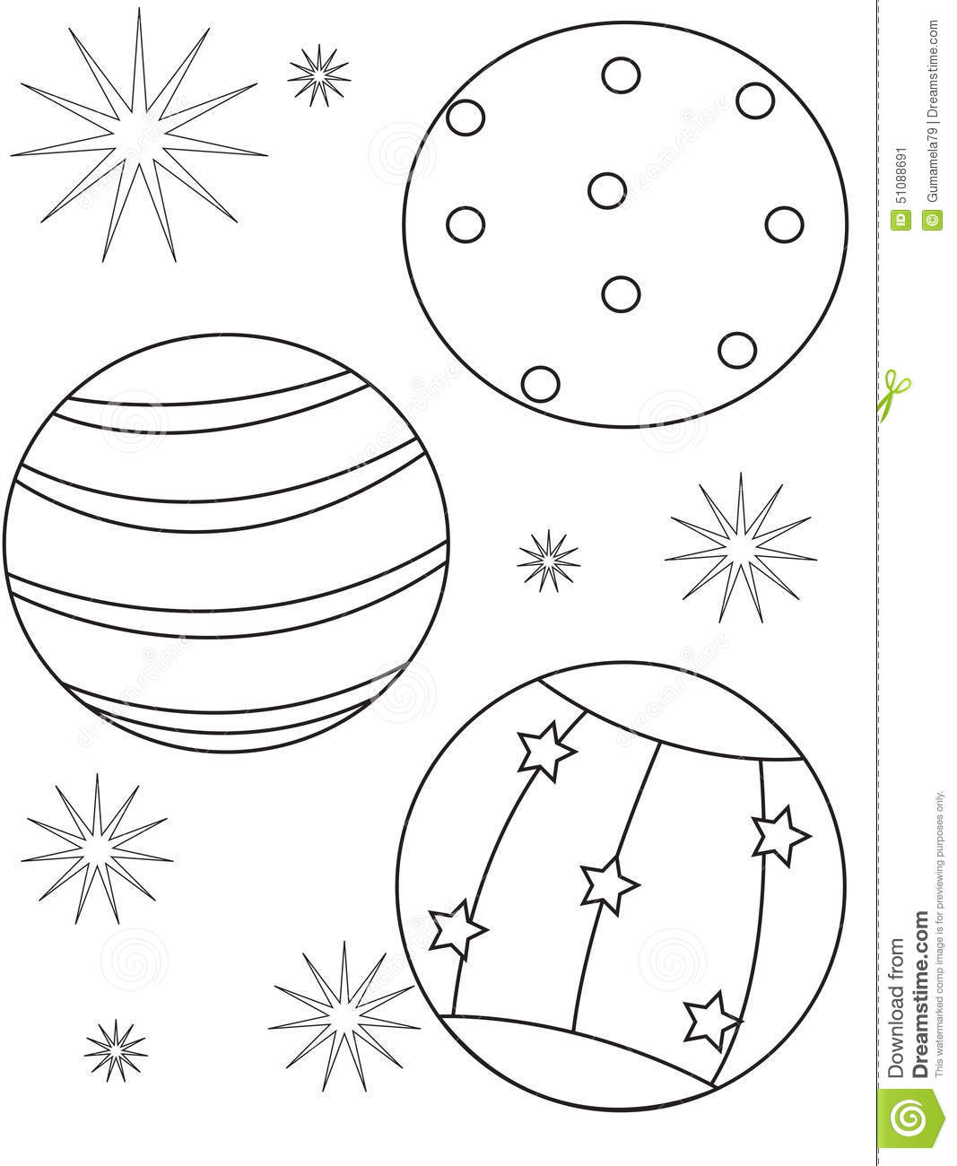 Beach ball coloring page stock illustration. Illustration