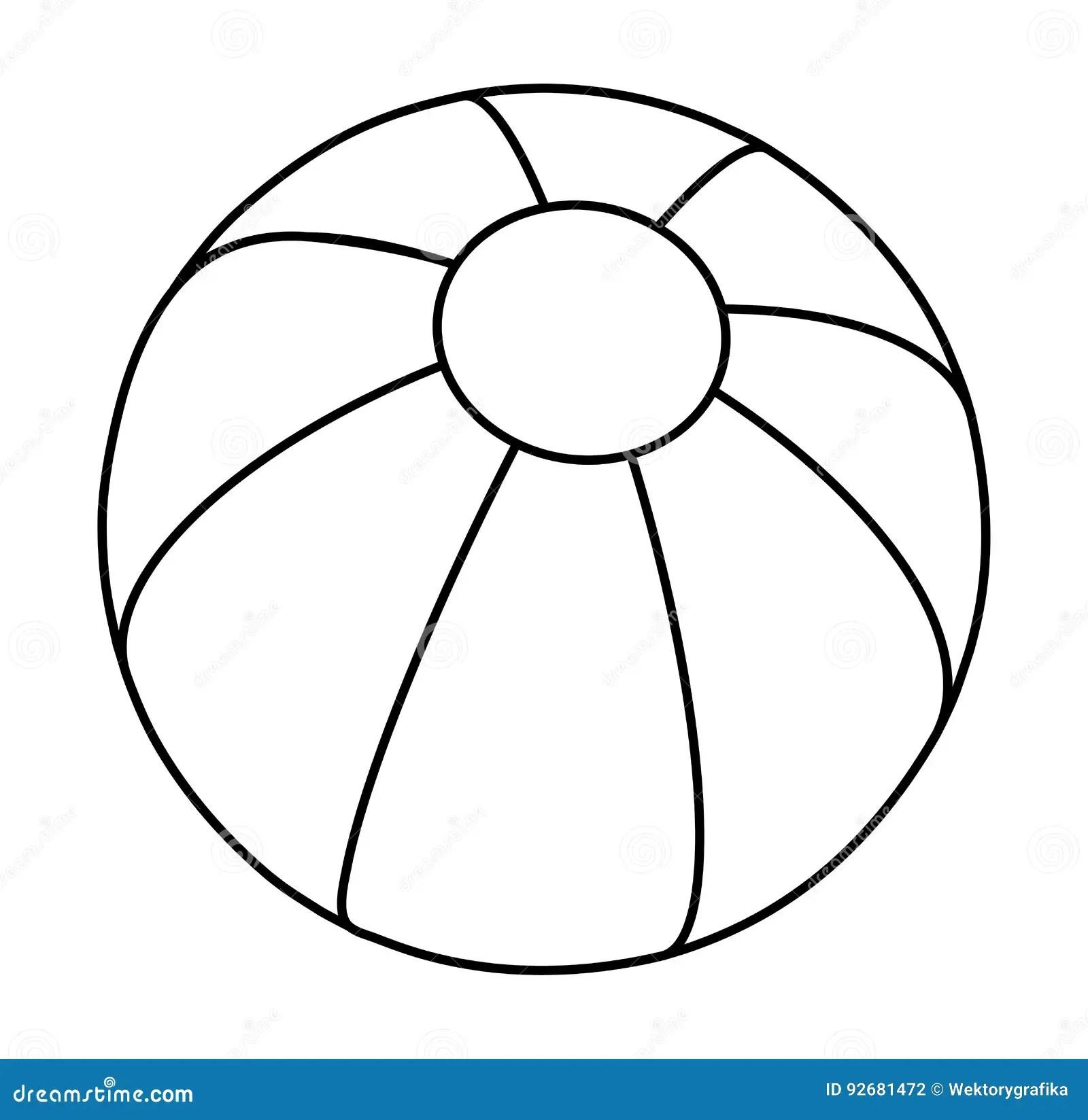 Beach Ball Silhouette Vector Symbol Icon Design Stock