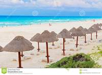 Beach And Chairs In Cancun, Mexico Stock Image ...