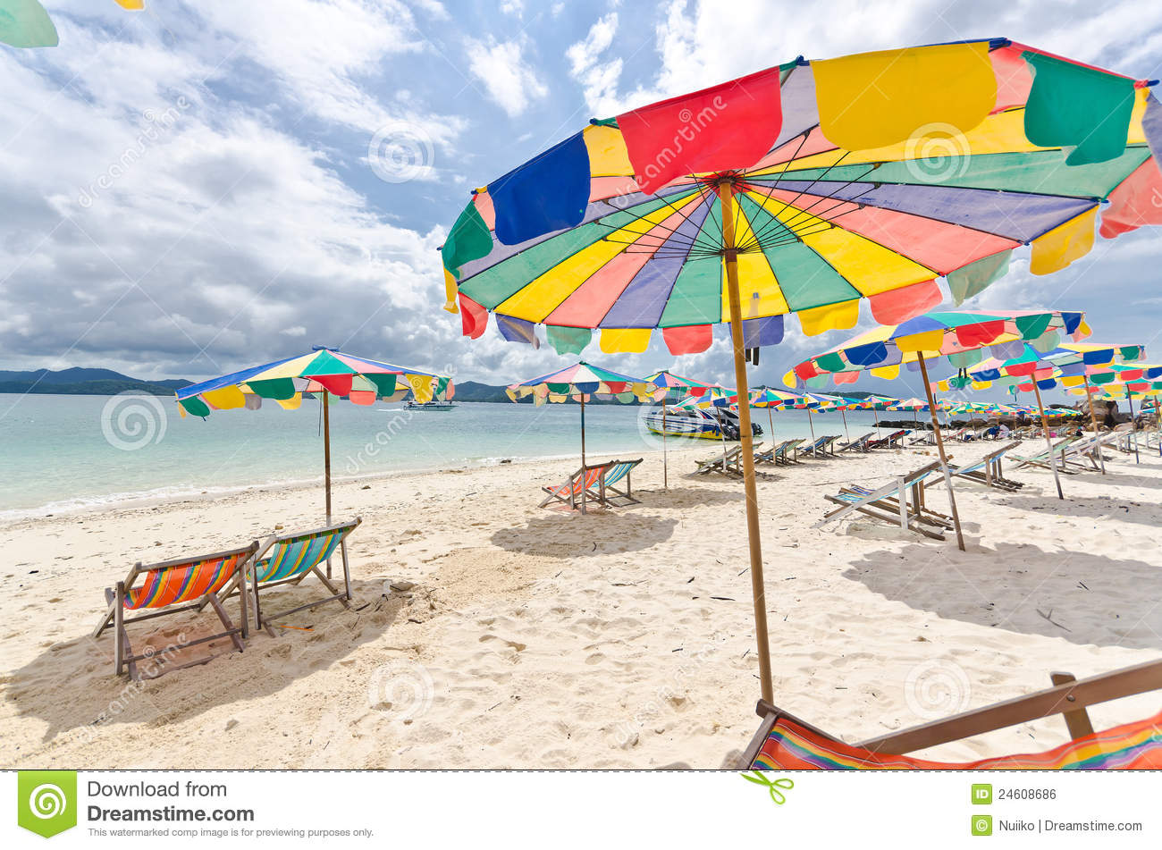 beach chairs and umbrellas pictures upholstered computer chair colorful umbrella on the in sunny