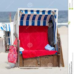 Canvas Beach Chair Kitchen Islands With Chairs By The Ocean Royalty Free Stock Images Image