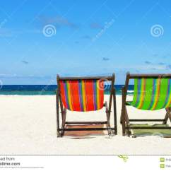 Perfect Beach Chairs Bedroom Chair Wood And Beautiful Sand Royalty Free Stock