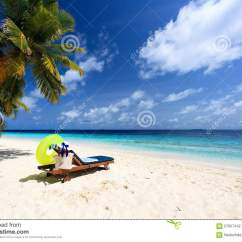 Perfect Beach Chairs Carlisle Dining Chair On Tropical Sand Stock Photo