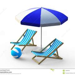 Beach Chairs And Umbrella Chair Covers Rental Montreal Stock Illustration Image Of Ball