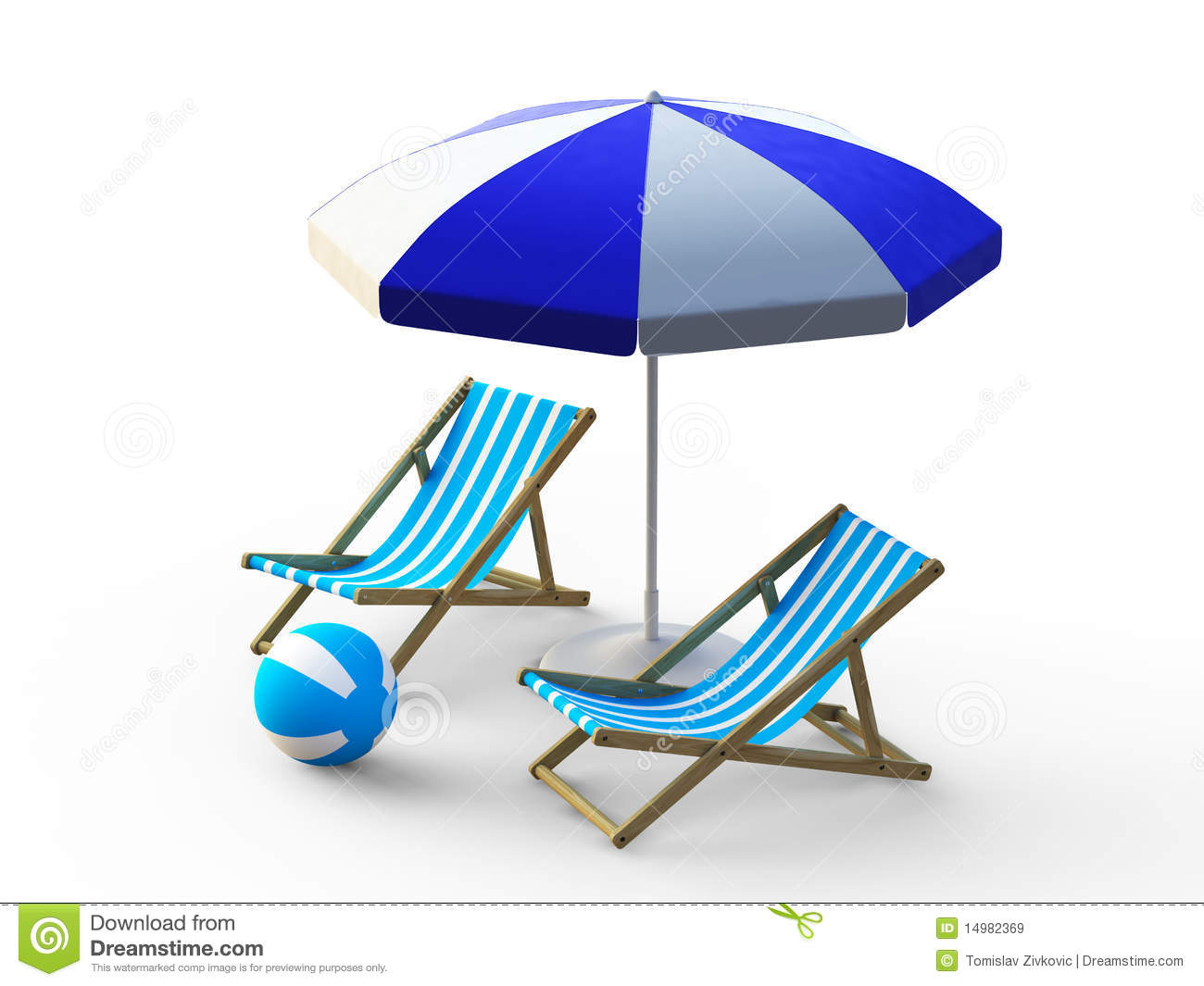Umbrella Chair Beach Chair And Umbrella Stock Illustration Image Of Ball