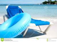Beach Chair And Water Tube Stock Images - Image: 21748714