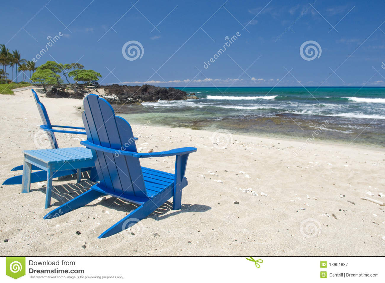 Hawaiian Chair Beach Chairs Hawaii Royalty Free Stock Photography Image