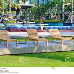 What Are Pool Chairs Made Out Of Cool Gaming Beach Near Swimming In Garden Stock Photo Image