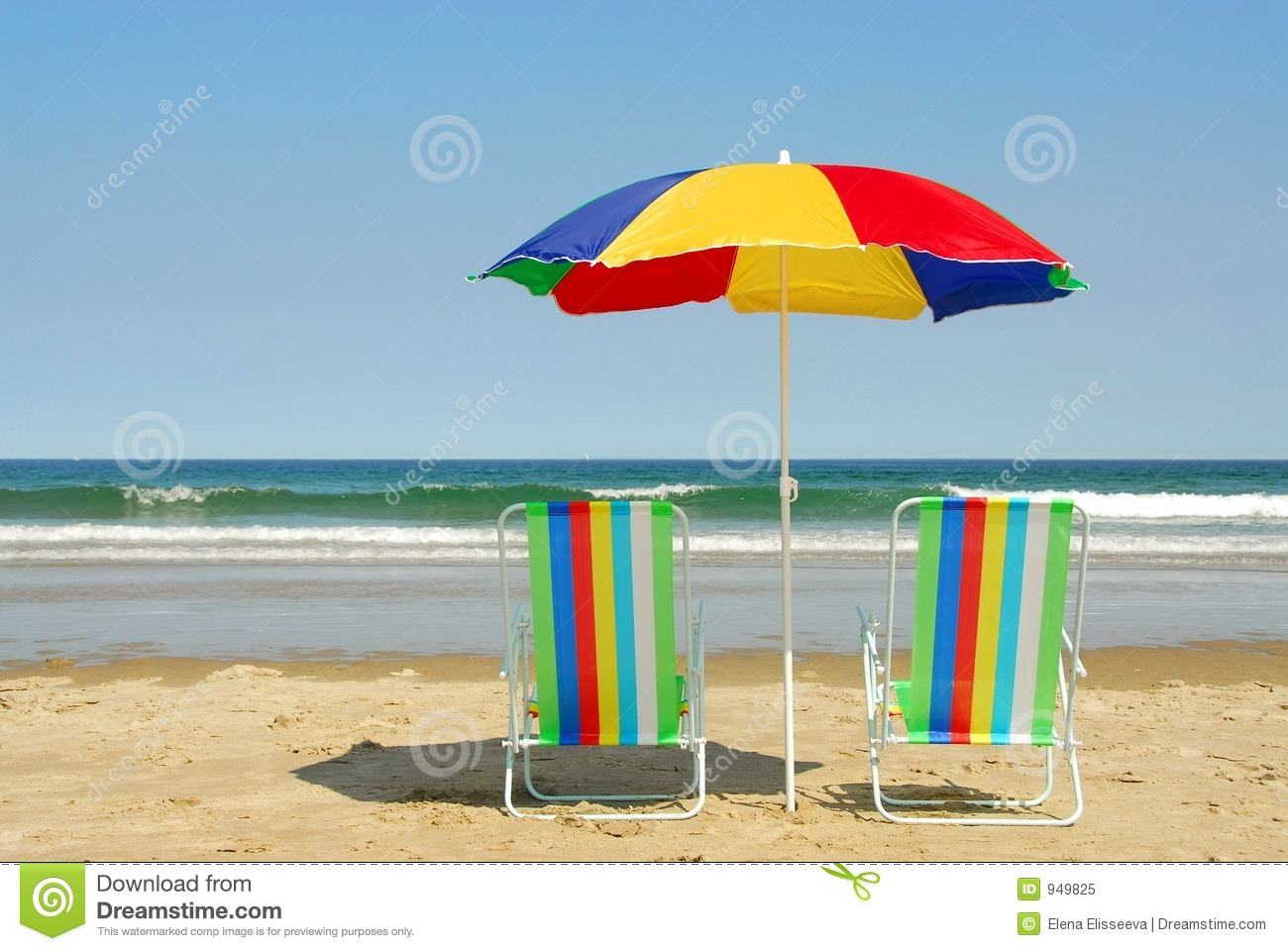 Beach Chairs With Umbrella Beach Chairs And Umbrella Stock Image Image Of Blue
