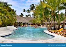 Beach Hotel Resort Swimming Pool Editorial Stock