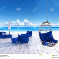 Hanging Umbrella Chair Ll Bean All Weather Adirondack Beach Lounge Deck With Sunbeds And