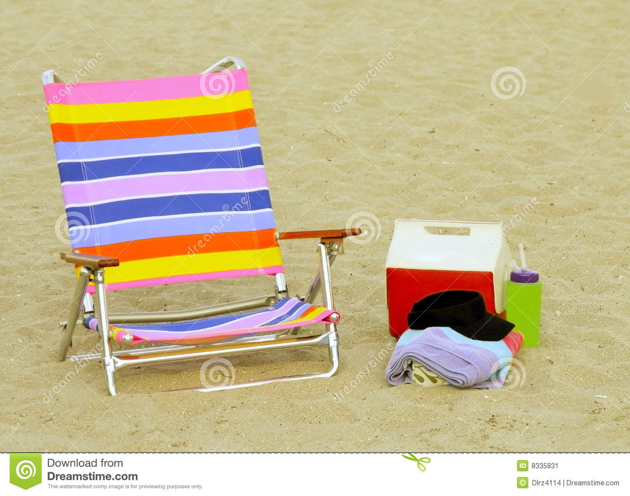 beach chair accessories lowes folding chairs ready stock image 8335831