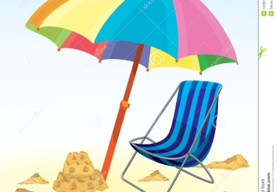 Beach Umbrella And Chair Set