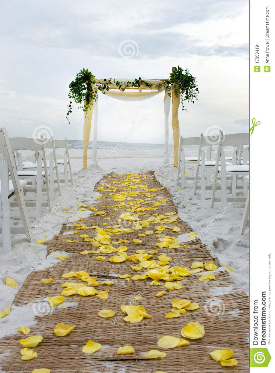 Beach Wedding Aisle Royalty Free Stock Images  Image