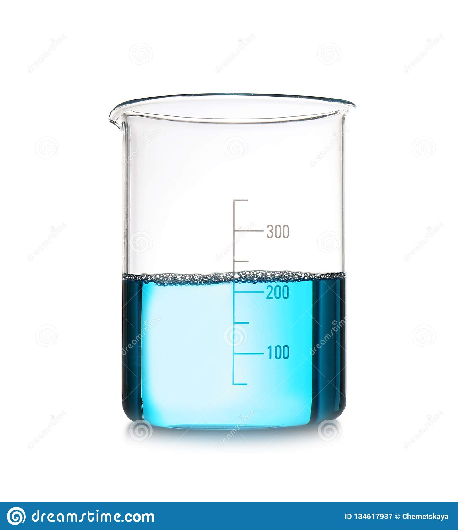 beaker with color sample