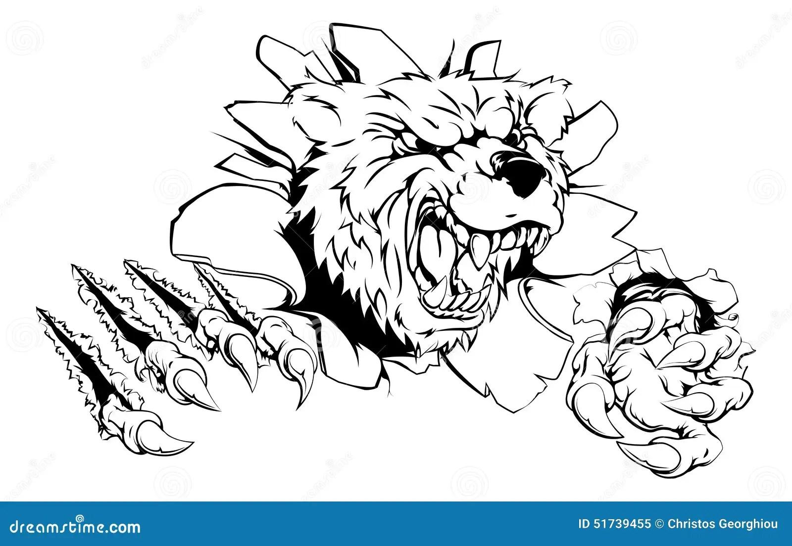 Bear Claw Breakthrough Stock Vector Illustration Of Clip