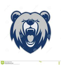 clipart picture of a bear head cartoon mascot logo character [ 1300 x 1390 Pixel ]