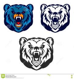 bear mascot emblem of the sport team or club  [ 1300 x 1390 Pixel ]