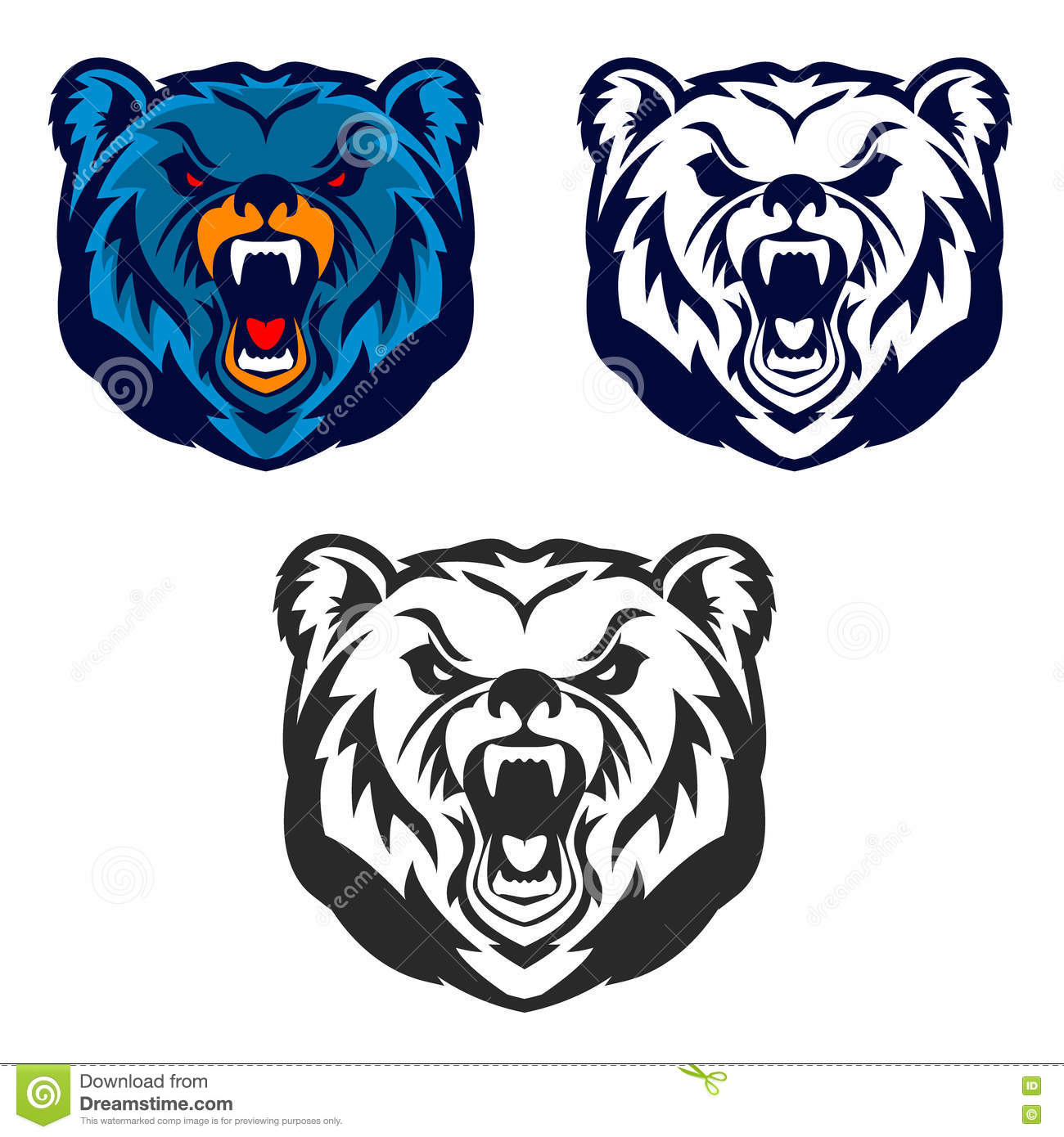 hight resolution of bear mascot emblem of the sport team or club