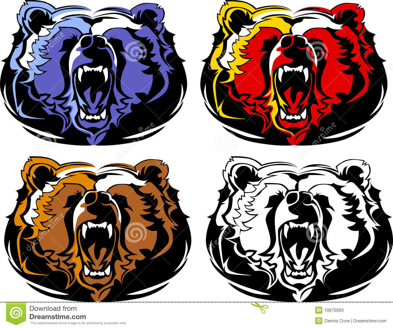 hight resolution of bear mascot vector logo