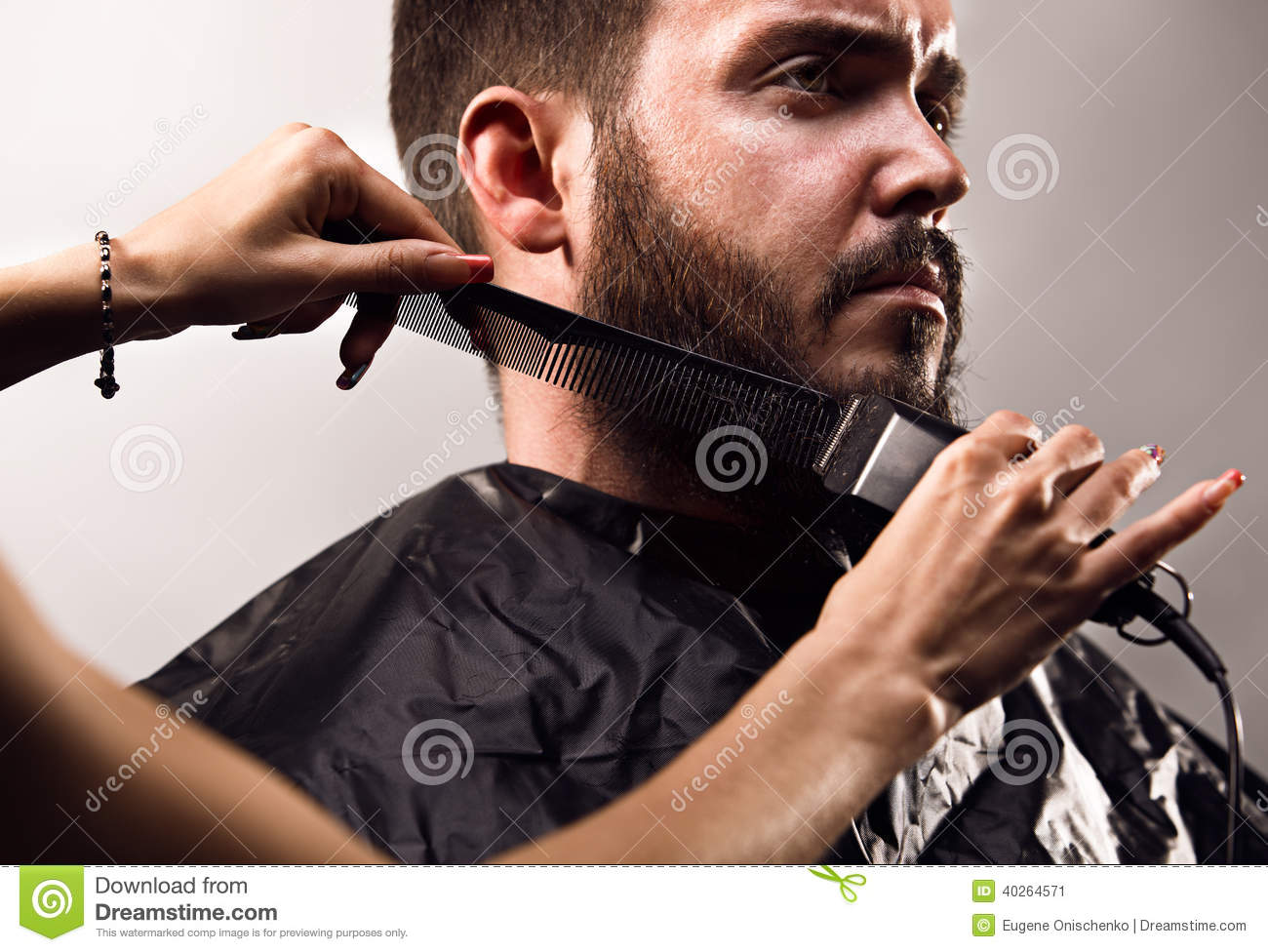 Beard Trimming Stock Photo Image 40264571