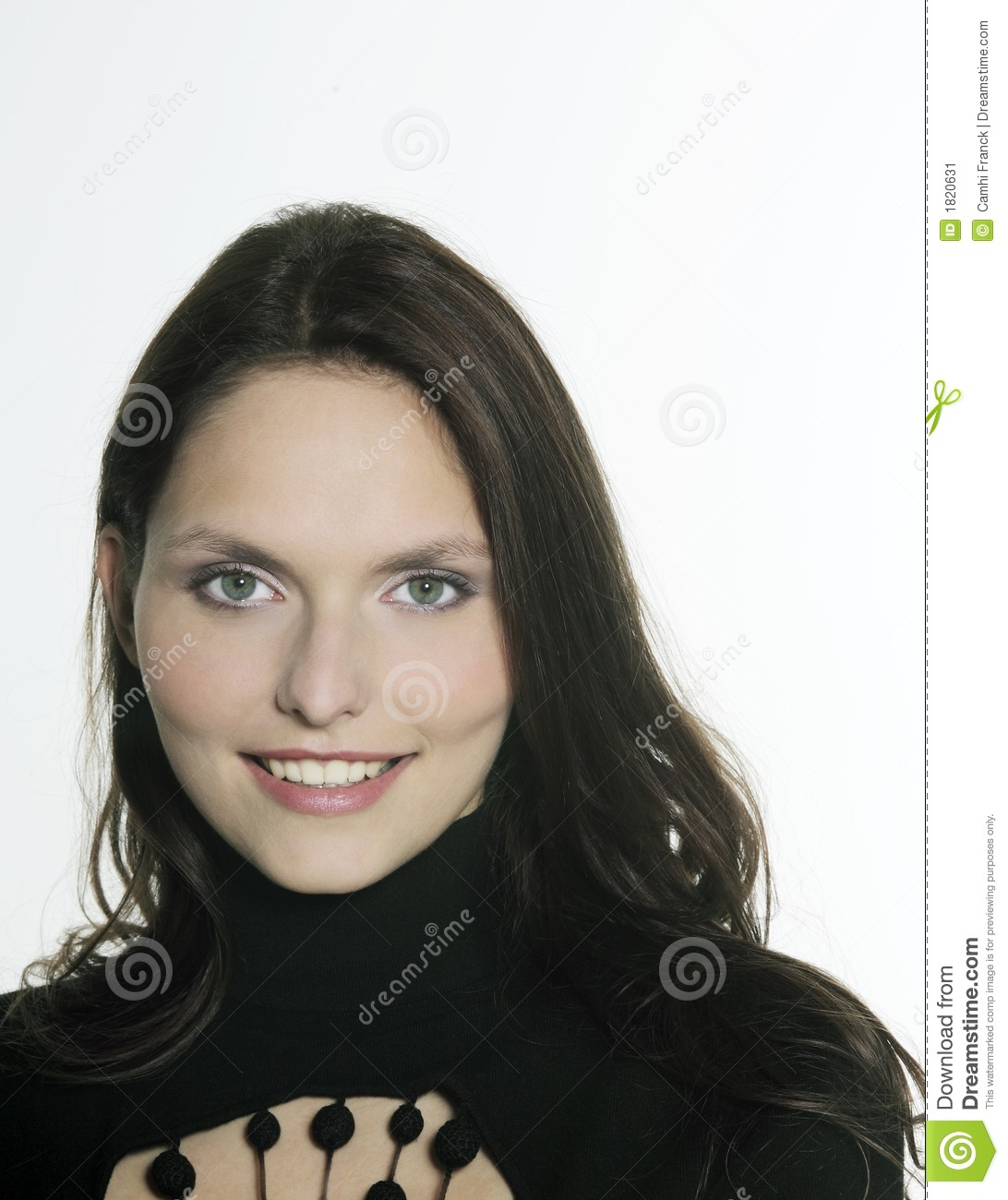 Stock Image Beautiful 25 Years Old Smiling Woman Image