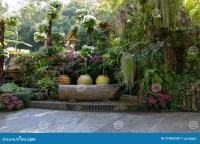 Beautiful Backyard Garden Park Scene Stock Photo - Image ...