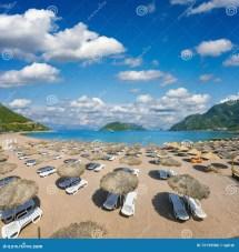 Beautiful Beach In Icmeler Turkey Stock