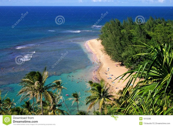 Beautiful Beach Kauai Stock Of Coast