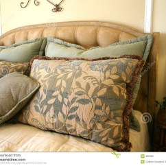 Gray Tufted Chair Faux Leather Reception Chairs Beautiful Bed Pillows Stock Photography - Image: 495462