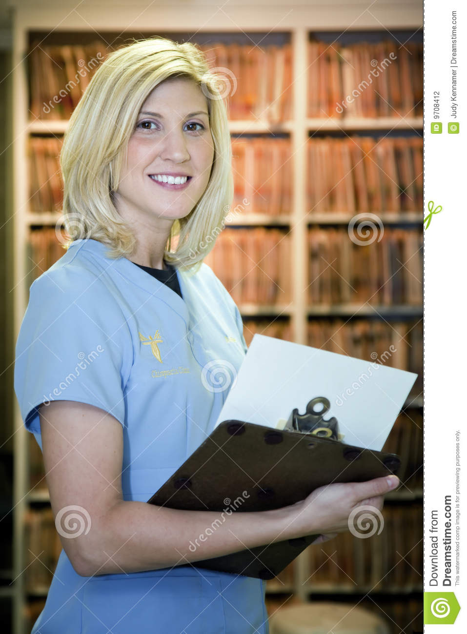 Beautiful Blonde Medical Assistant Stock Photo  Image 9708412
