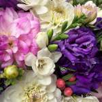 Beautiful Bouquet Flowers Pink Dahlia White Alstroemeria And Blue Flowers Flowers Background Stock Photo Image Of Dahlia Element 176941288