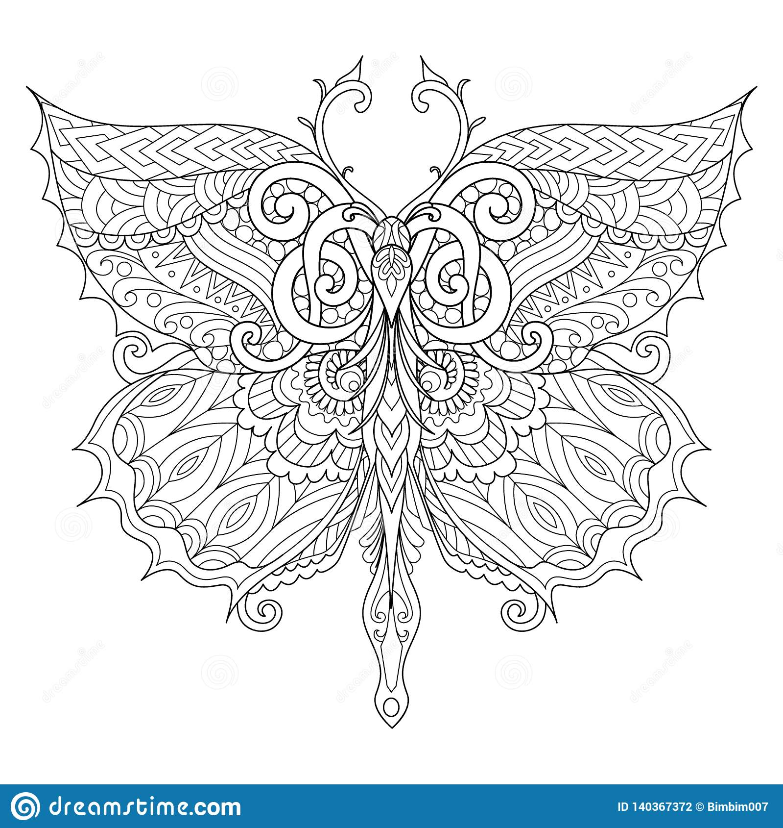 Beautiful Butterfly For Adult Coloring Book Coloring Page