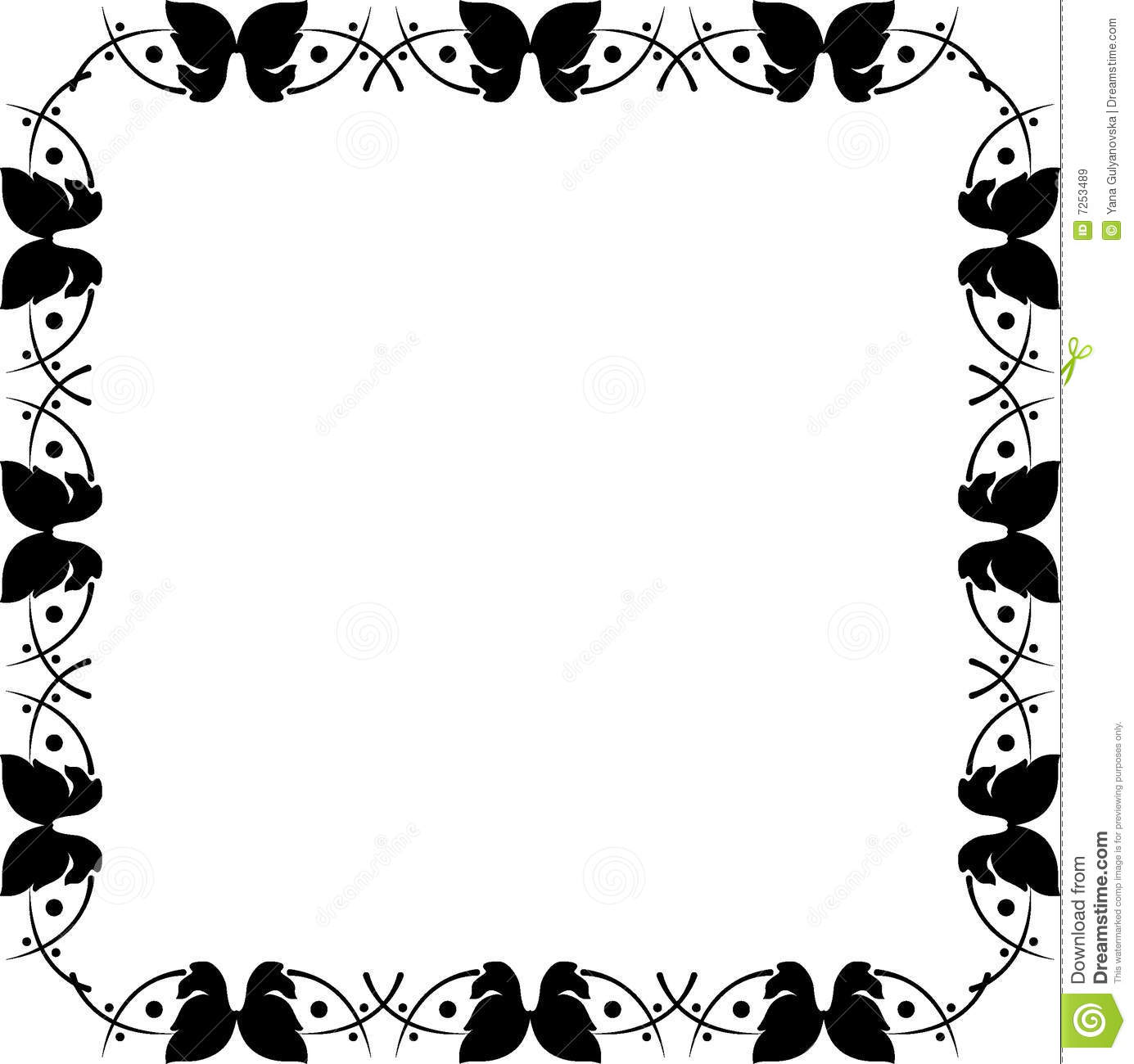 Beautiful Butterfly Frame Stock Vector Illustration Of Elegance
