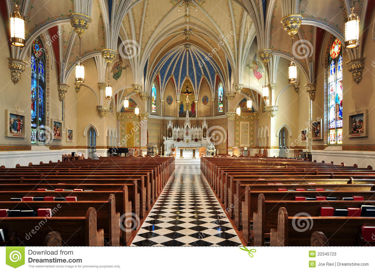 Beautiful Catholic Church Interior Stock Photos Image