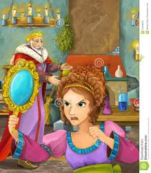 castle scene king cartoon happy kitchen different talking lady young