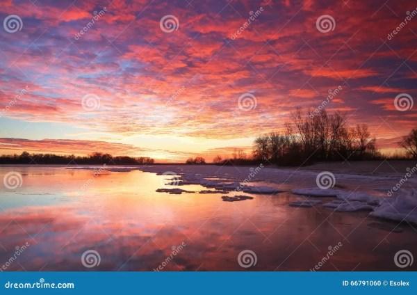 beautiful colorful winter landscape