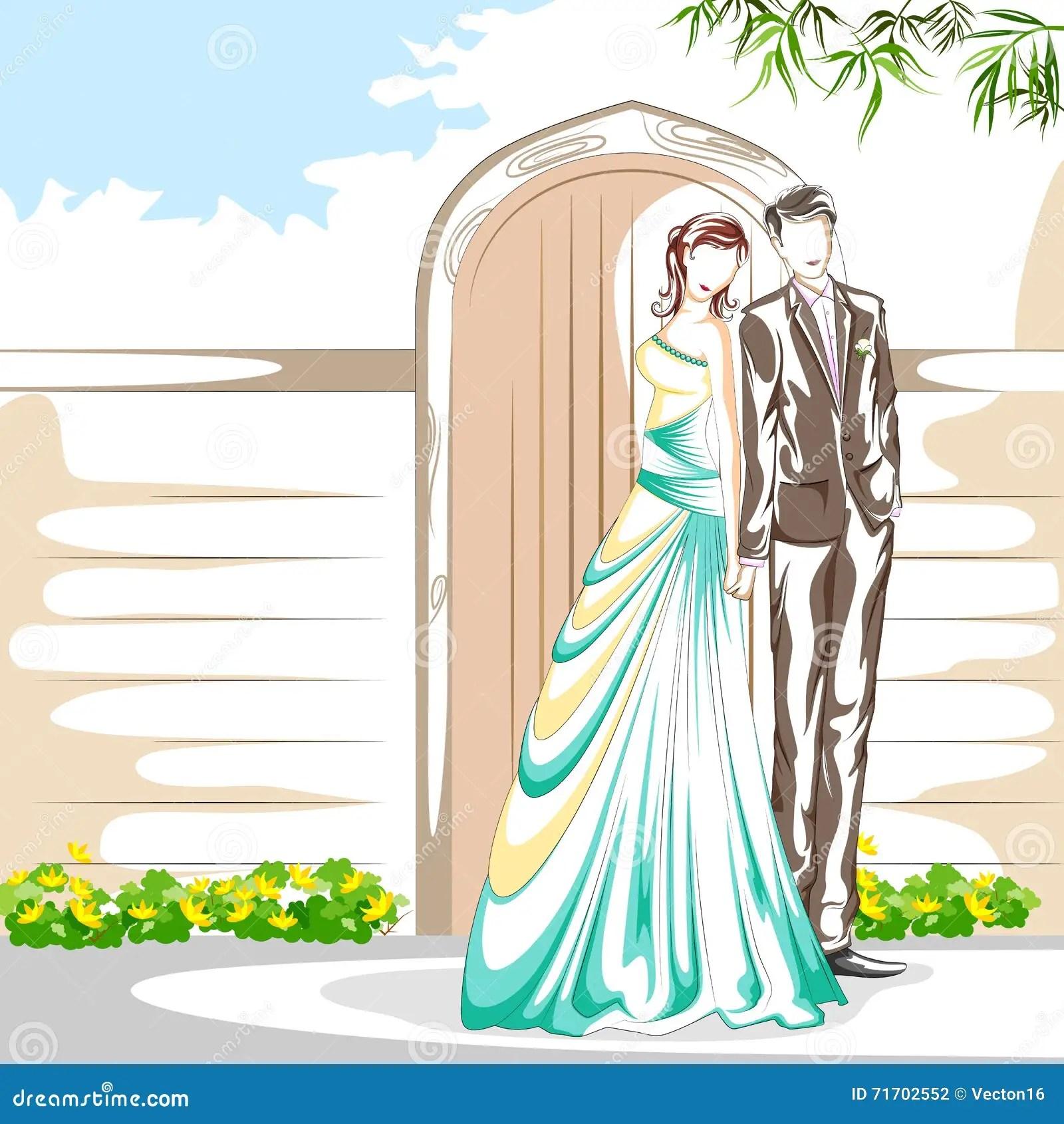 Beautiful Couple In Romantic Mood Stock Illustration