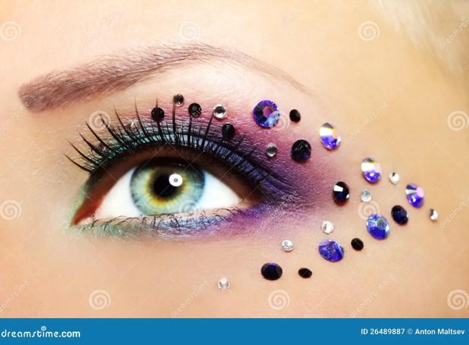 beautiful eye makeup stock image. image of glamour