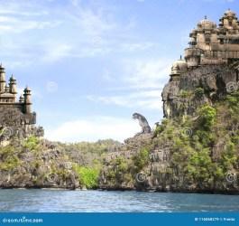 castles fantasy landscape sea mountains