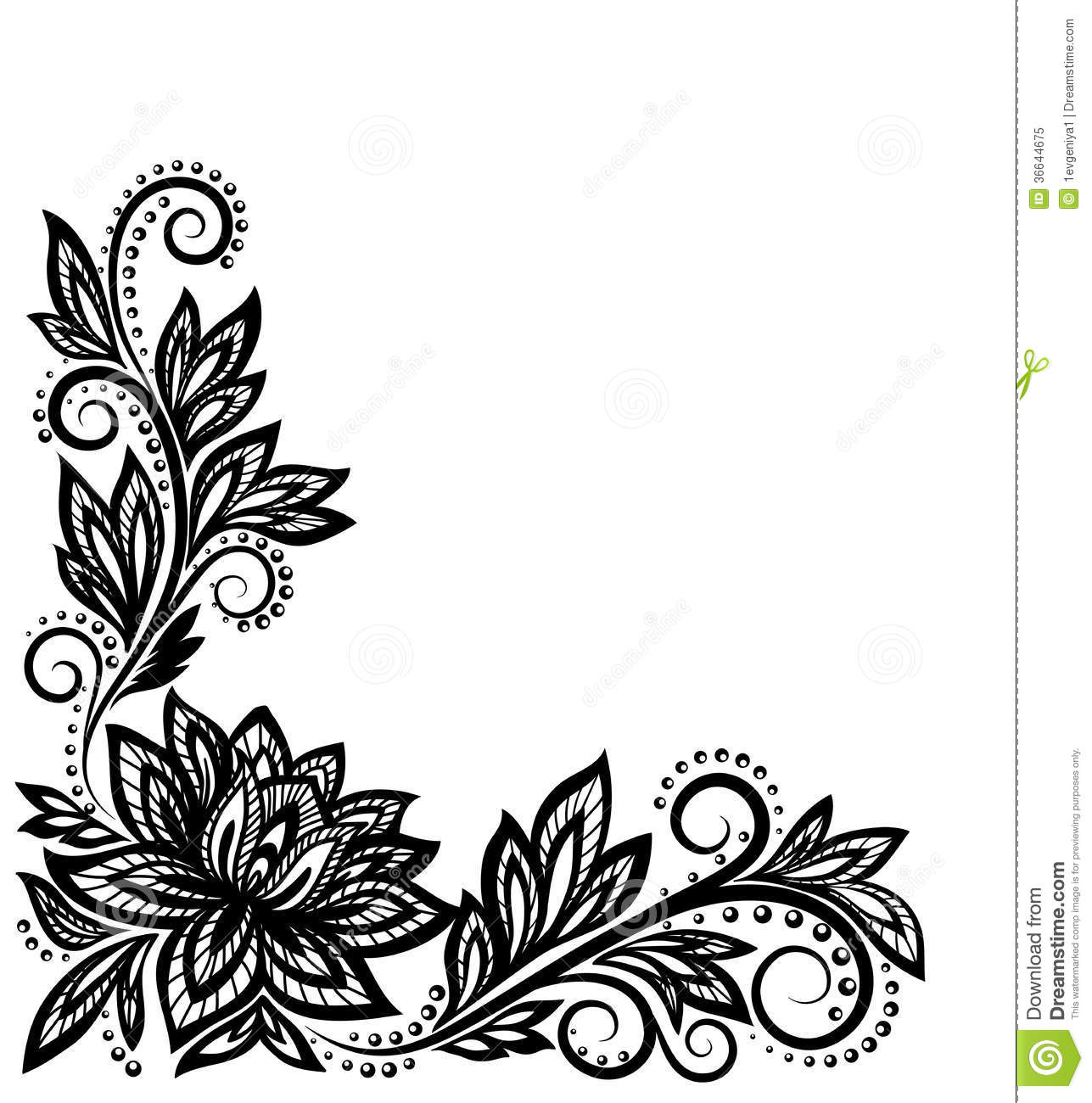 Beautiful Floral Pattern Design Element In The Ol Stock