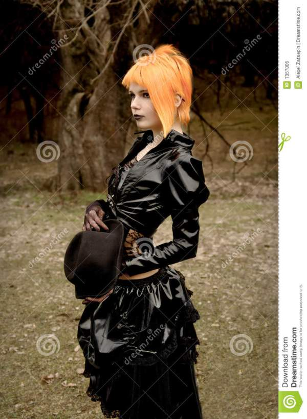 Beautiful Girl In Gothic Outfit Royalty Free Stock