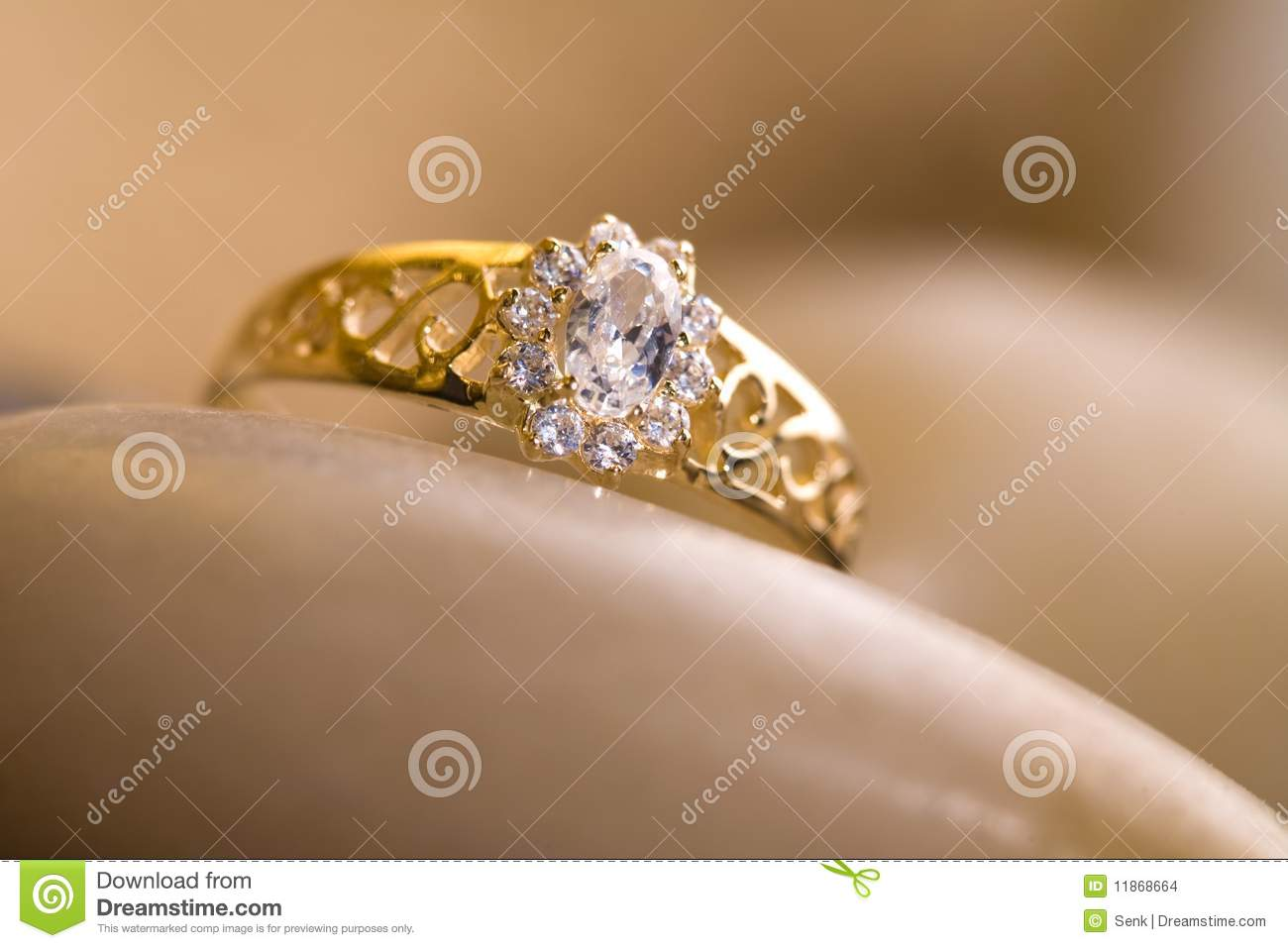 Beautiful Gold Ring. Stock Images